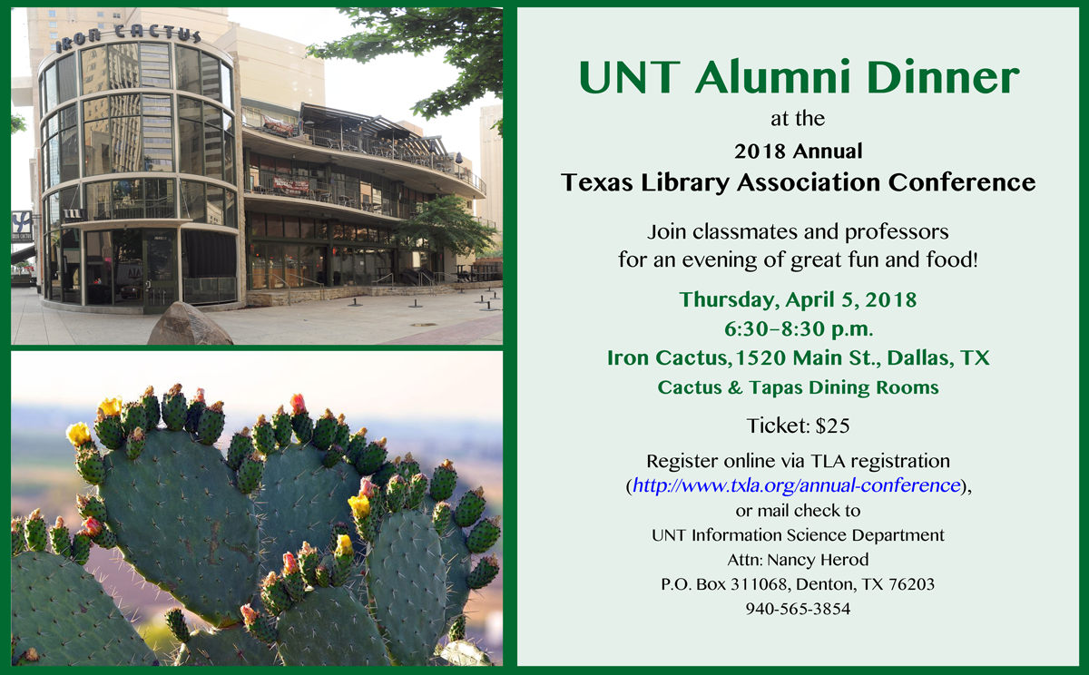 Invitation to register for the TLA Alumni dinner