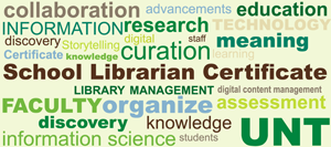 Word Cloud for School Librarian Certificate